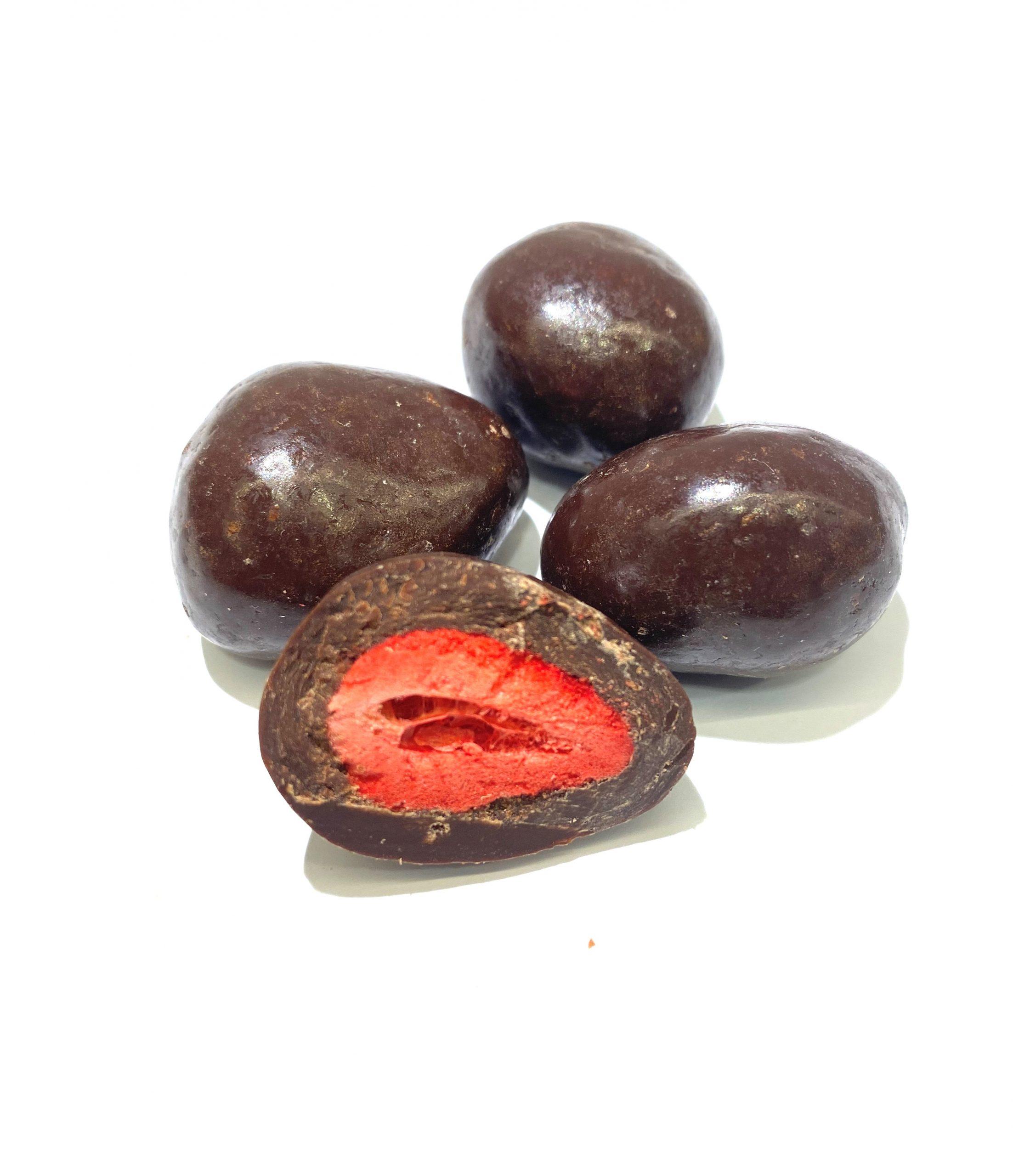 Frystorkad jordgubb mörk ch