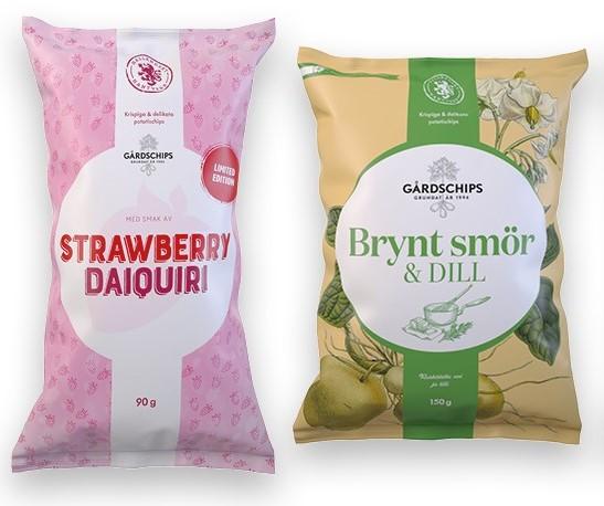 Premium Snacks Nordic: Gårdschips lyfter svenska smaker i chipshyllan – Nu kommer Brynt smör med dill