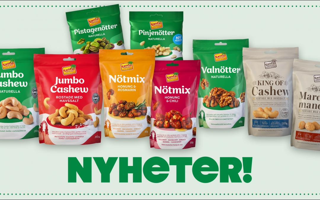 Premium Snacks Nordic: Nyheter från Exotic Snacks – Förstärker greppet som helhetsleverantör av nötter & natursnacks